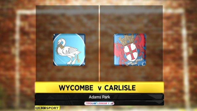 Wycombe 1-1 Carlisle
