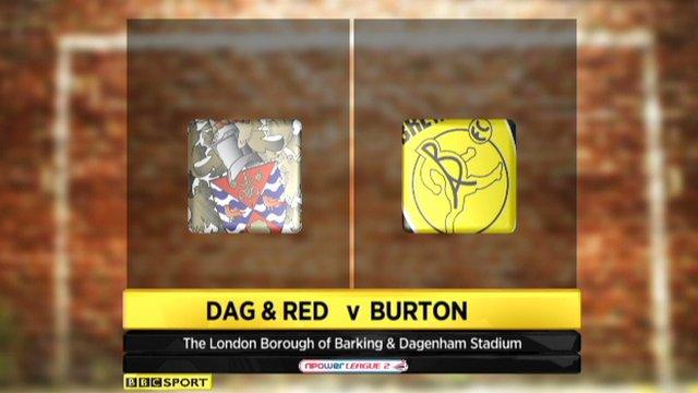 Dagenham and Redbridge 1-1 Burton Albion