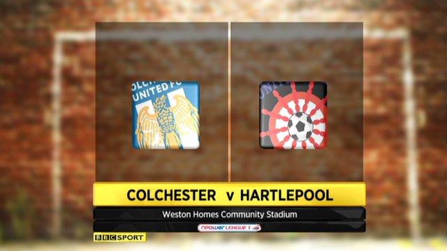 Highlights: Colchester 1-1 Hartlepool