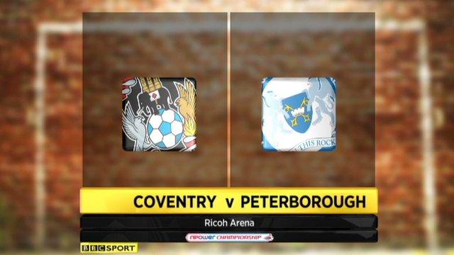 Coventry 2-2 Peterborough
