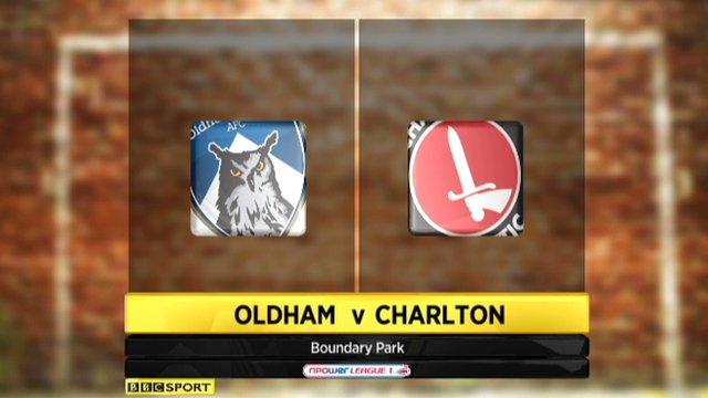Oldham 0-1 Charlton