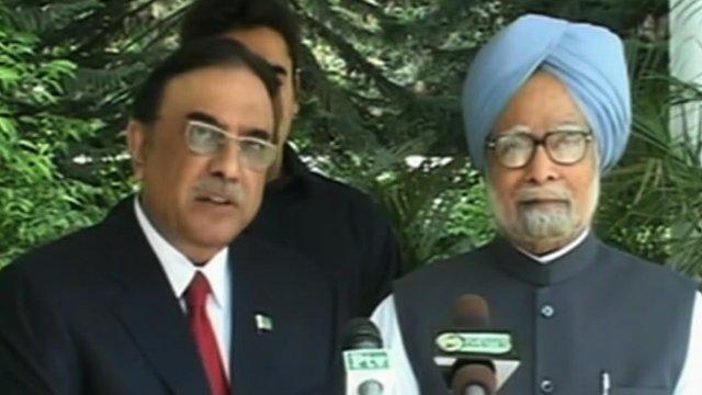 Asif Ali Zardari and Manmoham Singh