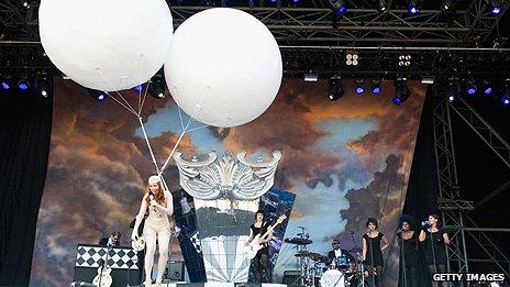 Paloma Faith on Glastonbury's Pyramid Stage in 2010