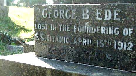 Memorial to George B Ede at Southampton Old Cemetery