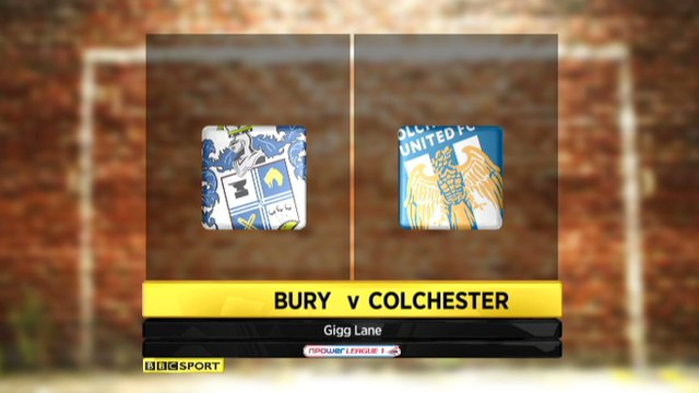 Bury record a second victory in 16 games as they thrashed Colchester. (UK only).