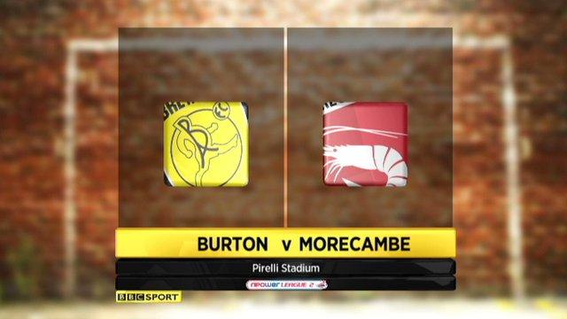 Highlights - Burton Albion 3-2 Morecambe