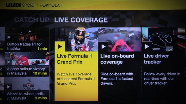 BBC Sport's new 'connected TV' application
