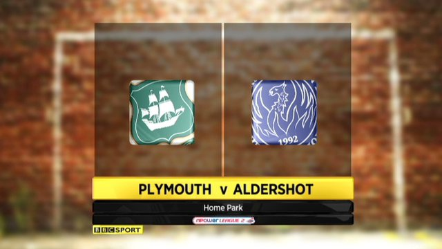Highlights - Plymouth 1-0 Aldershot