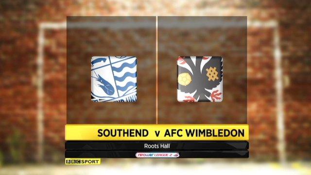 Highlights - Southend 2-0 AFC Wimbledon
