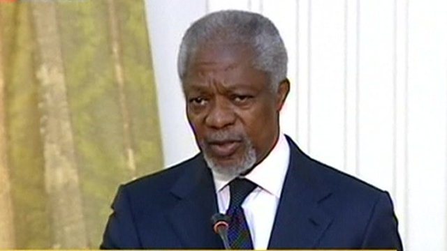 Kofi Annan speaking on Press TV