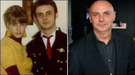 Nigel Godfrey and his sister Cheryl; Nigel today