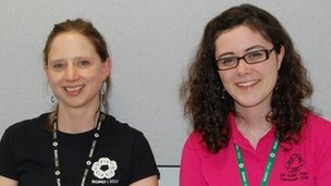 Dr Ceri Fiddes and Natalie Behague