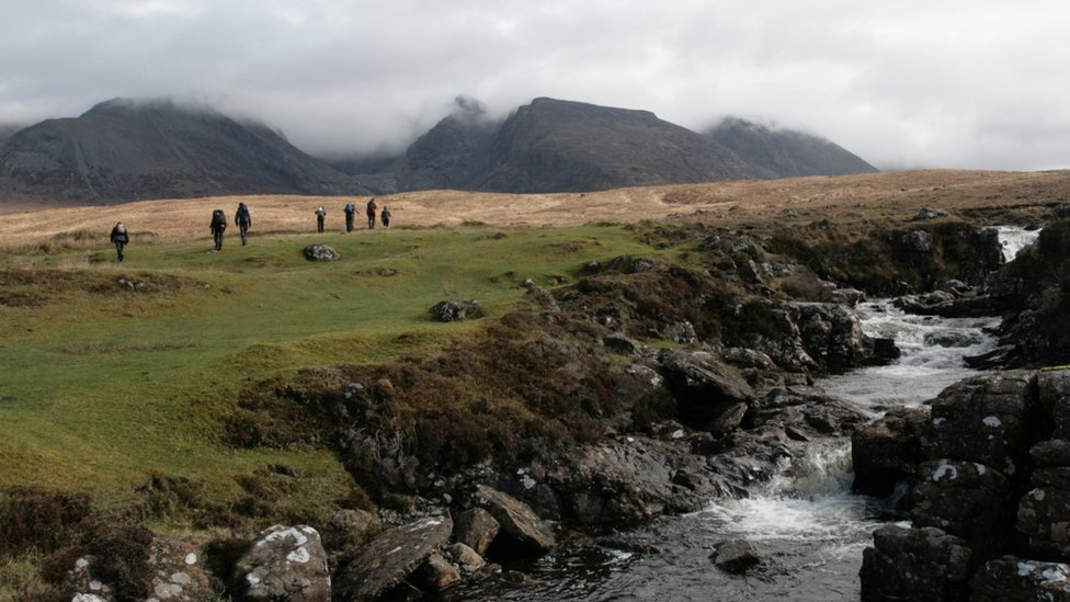 Mountaineering club on the Isle of Skye