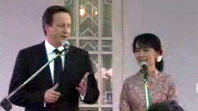 David Cameron with Aung San Suu Kyi