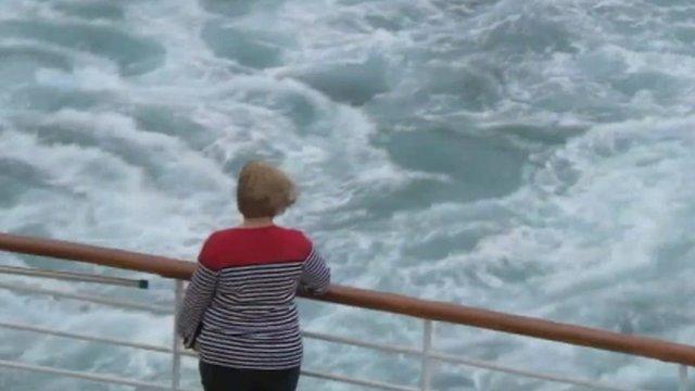 Woman aboard ship
