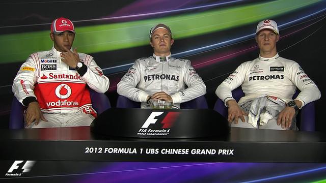 Chinese Grand Prix qualifying - top three drivers