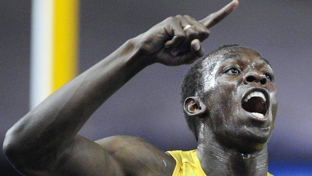 Usain Bolt wins 100m Gold at Beijing 2008