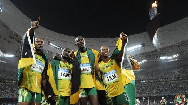 Jamaica win Beijing Olympic 4x100m relay