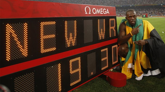 Bolt wins Olympic 200m in record