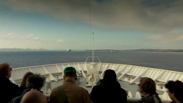 MS Balmoral arriving in Halifax, Nova Scotia