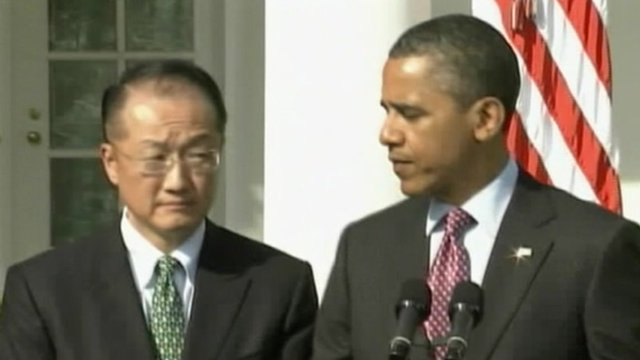 Dr Jim Yong Kim and Barack Obama