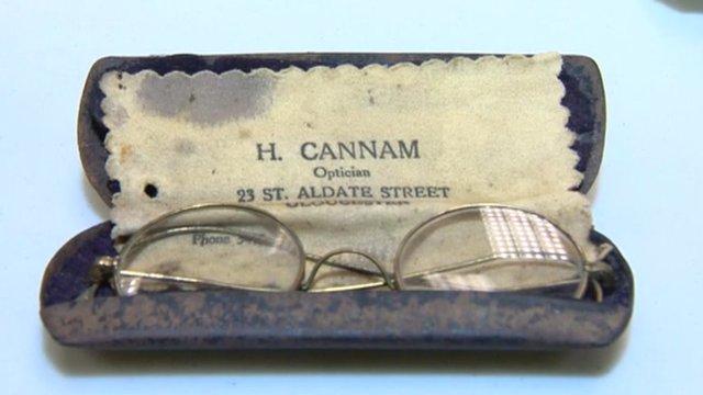 Glasses that belonged to Mahatma Gandhi