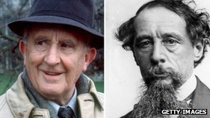 JRR Tolkien and Charles Dickens