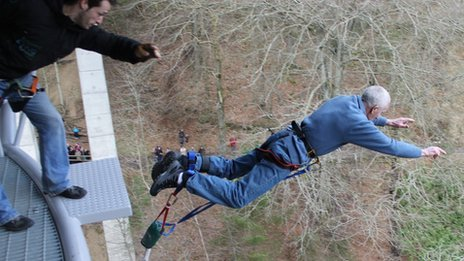 John Macdonald's bungee jump
