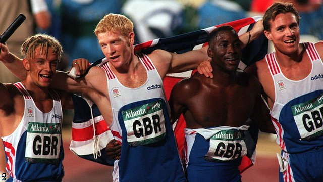 Britain's 4 x 400 relay team won the silver at Atlanta 1996.