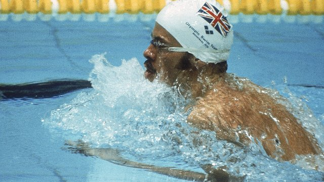 Britain's David Wilkie wins 200m breaststroke at 1976 Montreal Olympics