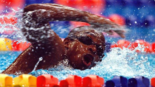 Equatorial Guinea's Eric Moussambani wins 100m freestyle heat in Sydney 2000