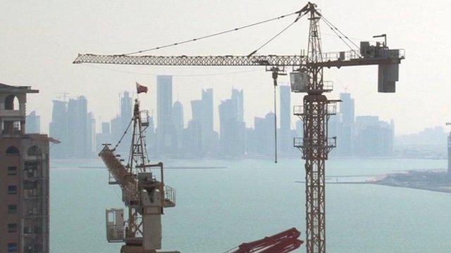 Cranes in Qatar