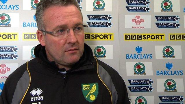 Norwich manager Paul Lambert