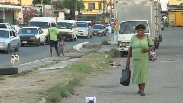 Street scene in Jamaica