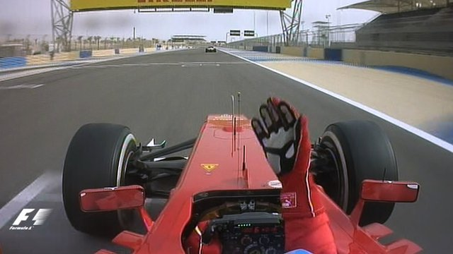 An angry Fernando Alonso