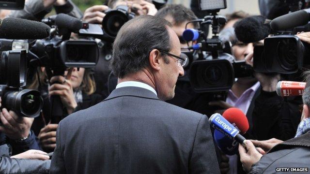 French Socialist Francois Hollande