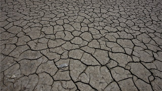 Dried up lake bed