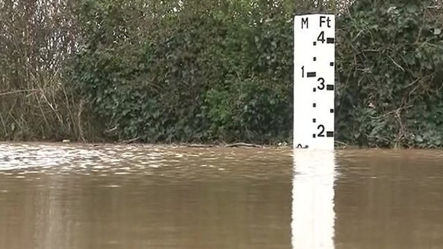 Rising river water levels