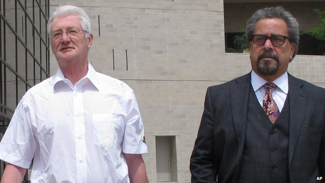 Christopher Tappin (left) with his lawyer Kent Schaffer