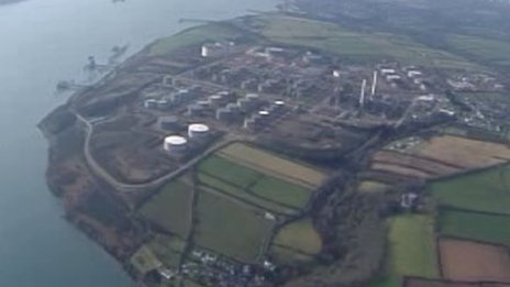 The LNG terminal near Milford Haven in Pembrokeshire
