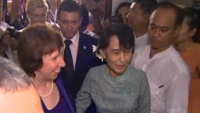 Baroness Ashton and Aung San Suu Kyi