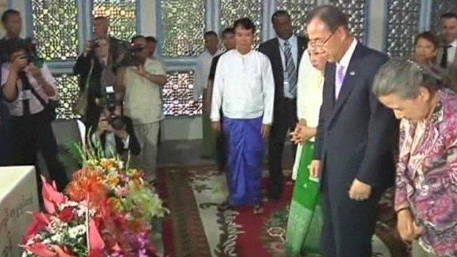 Ban Ki-moon in Burma