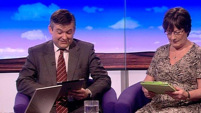 Jon Ashworth and Pauline Latham
