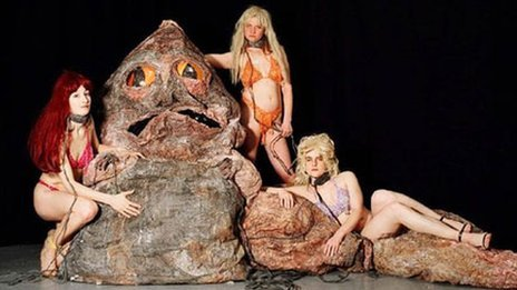 A scene from Spartacus Chetwynd's An Evening with Jabba the Hutt