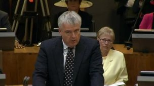Carwyn Jones in the Senedd