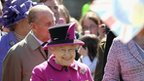 Queen and Duke of Edinburgh on visit to Salisbury