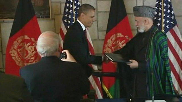 President Obama and Hamid Karzai