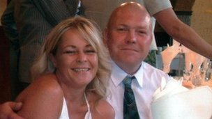Jeffrey Burrows with late wife Brione