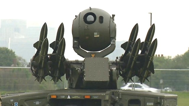 Rapier missile system in London