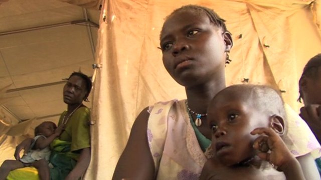 Families displaced by the Sudan and South Sudan violence